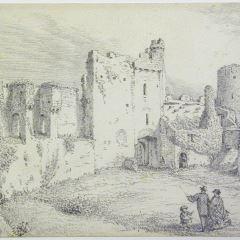 Ruinas del castillo de Manorbier, Gales
