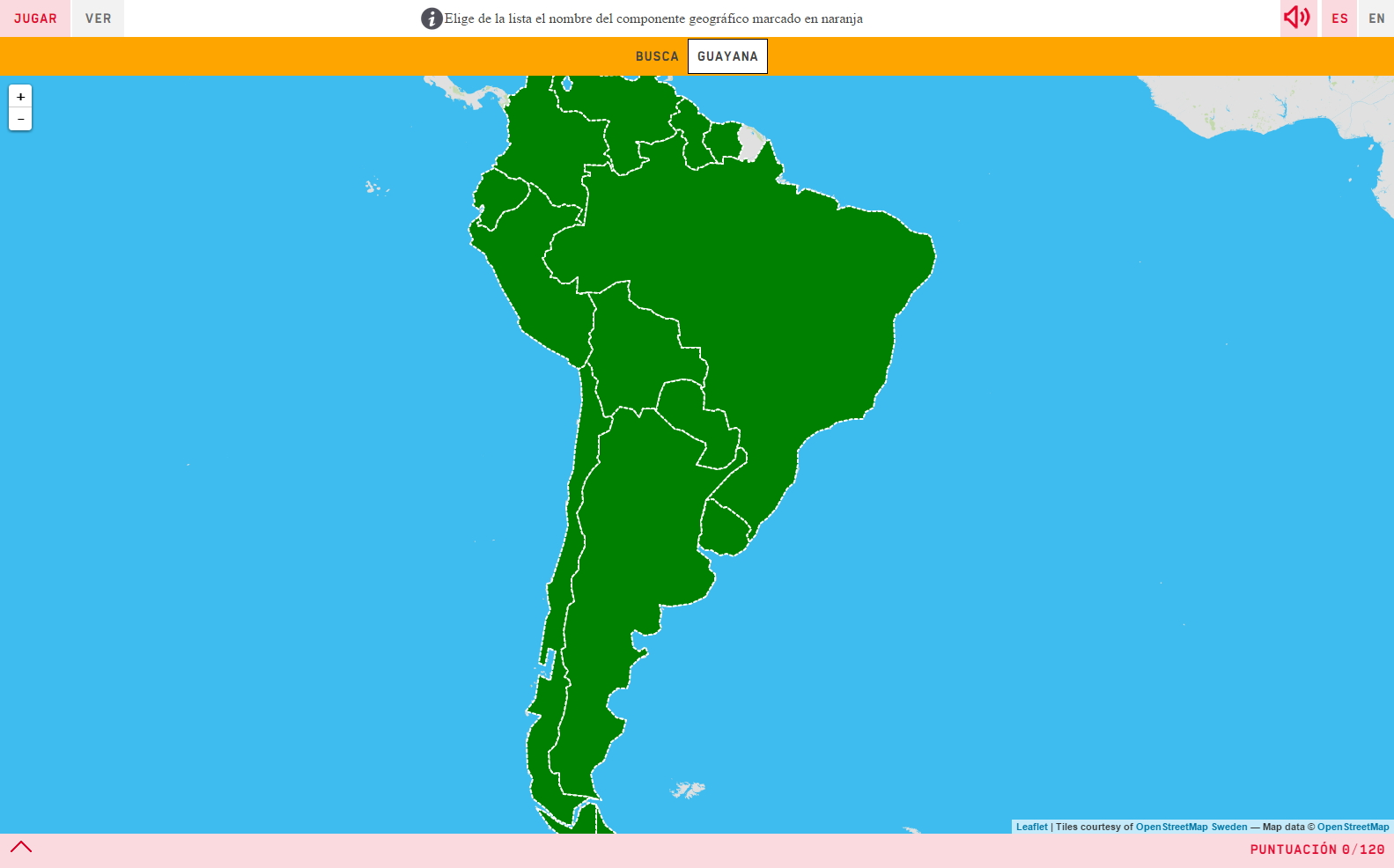 Interactive map. Where is it? Countries of South America - Mapas ...