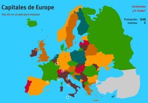 Capitales de Europa. Juegos Geográficos