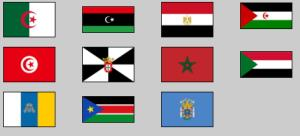 Flags of Northern Africa. Lizard Point