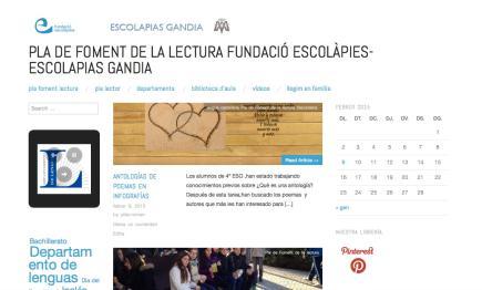 PLA DE FOMENT DE LA LECTURA FUNDACIÓ ESCOLÀPIES-ESCOLAPIAS GANDIA