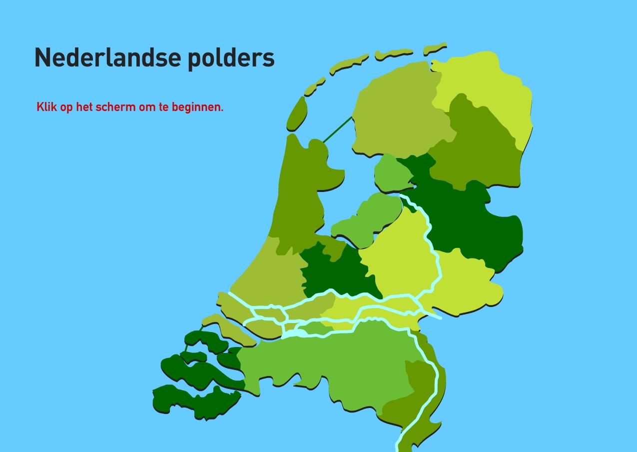 Nederlandse polders. Topografie van Nederland