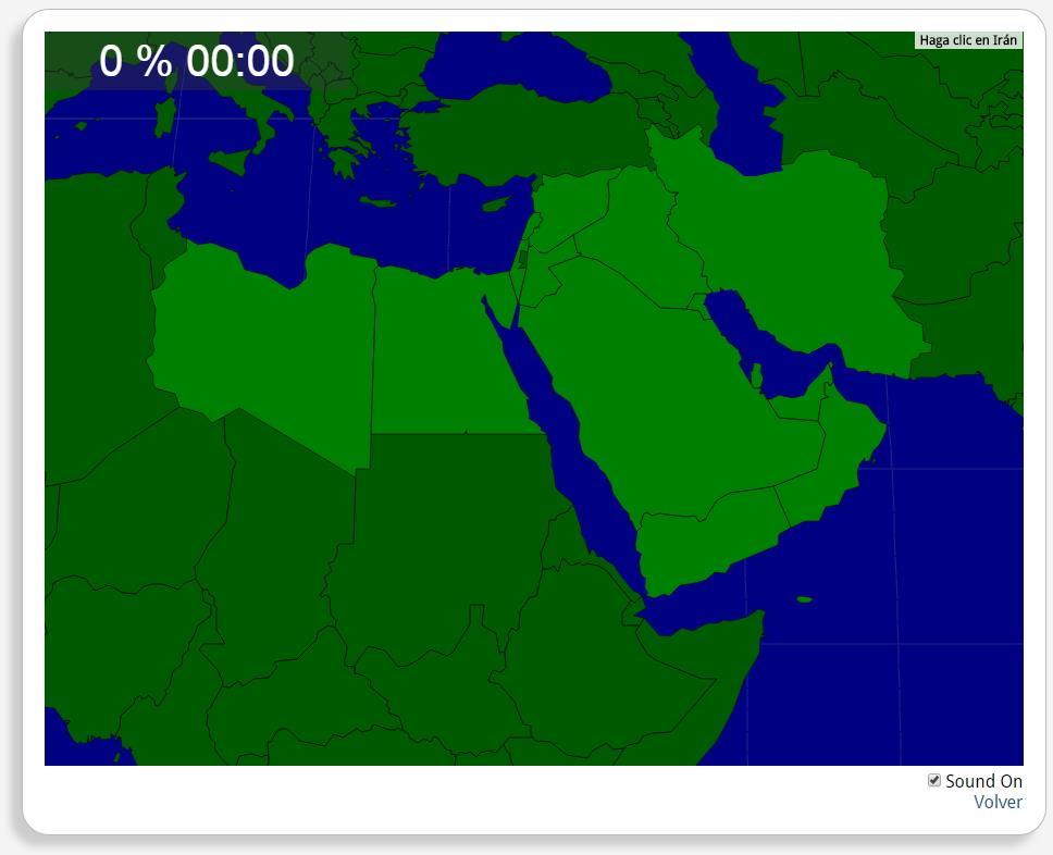 Moyen-Orient : les pays. Seterra