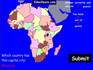 Capitals of african countries. Ilike2learn