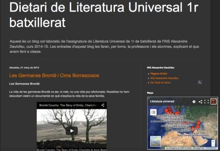 Dietari de Literatura Universal 1r batxillerat