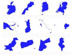 Formas de países del mundo 5 (JetPunk)