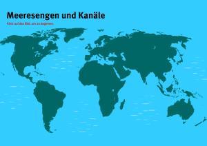 Meeresengen der Welt. Welt-Quiz Geographie