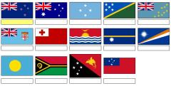 Flags of Oceania (JetPunk)