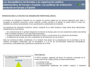 Los desequilibrios territoriales y la organización político-administrativa de Europa y España: Las políticas de ordenación territorial en Europa y España