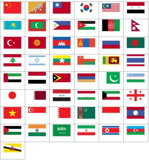 Flags of Asia. Sporcle