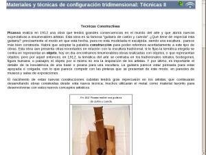 Materiales y técnicas de configuración tridimensional: Técnicas II