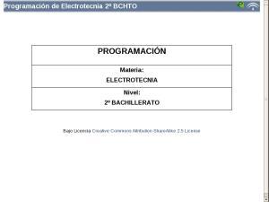Bachillerato Segundo Curso - Programación Electrotecnia
