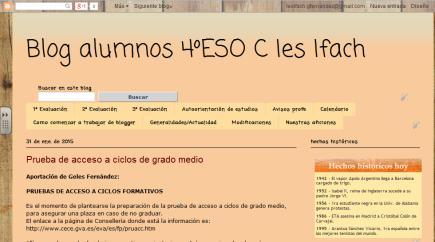 Blog alumnos 4ºESO C Ies Ifach