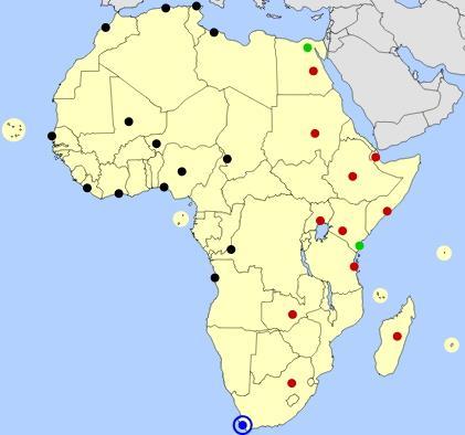 Geograhy Quiz Of Africa Cities Africa Cities Map Jetpunk Mapas