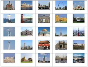 Landmarks of the world cities. Sporcle