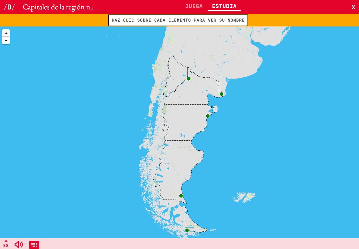 Capitales de la región de la patagonia de Argentina