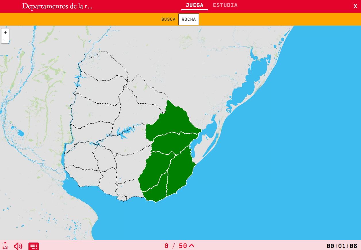 Departments of the region eastern of Uruguay
