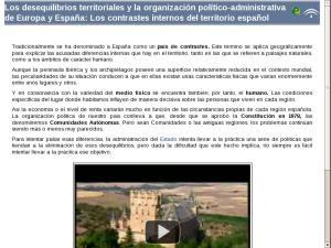 Los desequilibrios territoriales y la organización político-administrativa de Europa y España: Los contrastes internos del territorio español