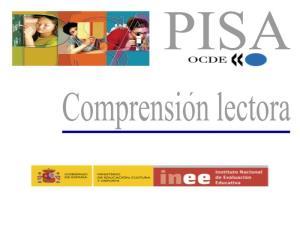 """PISA. Estímulo de Comprensión Lectora:""""Plan internacional"""""""