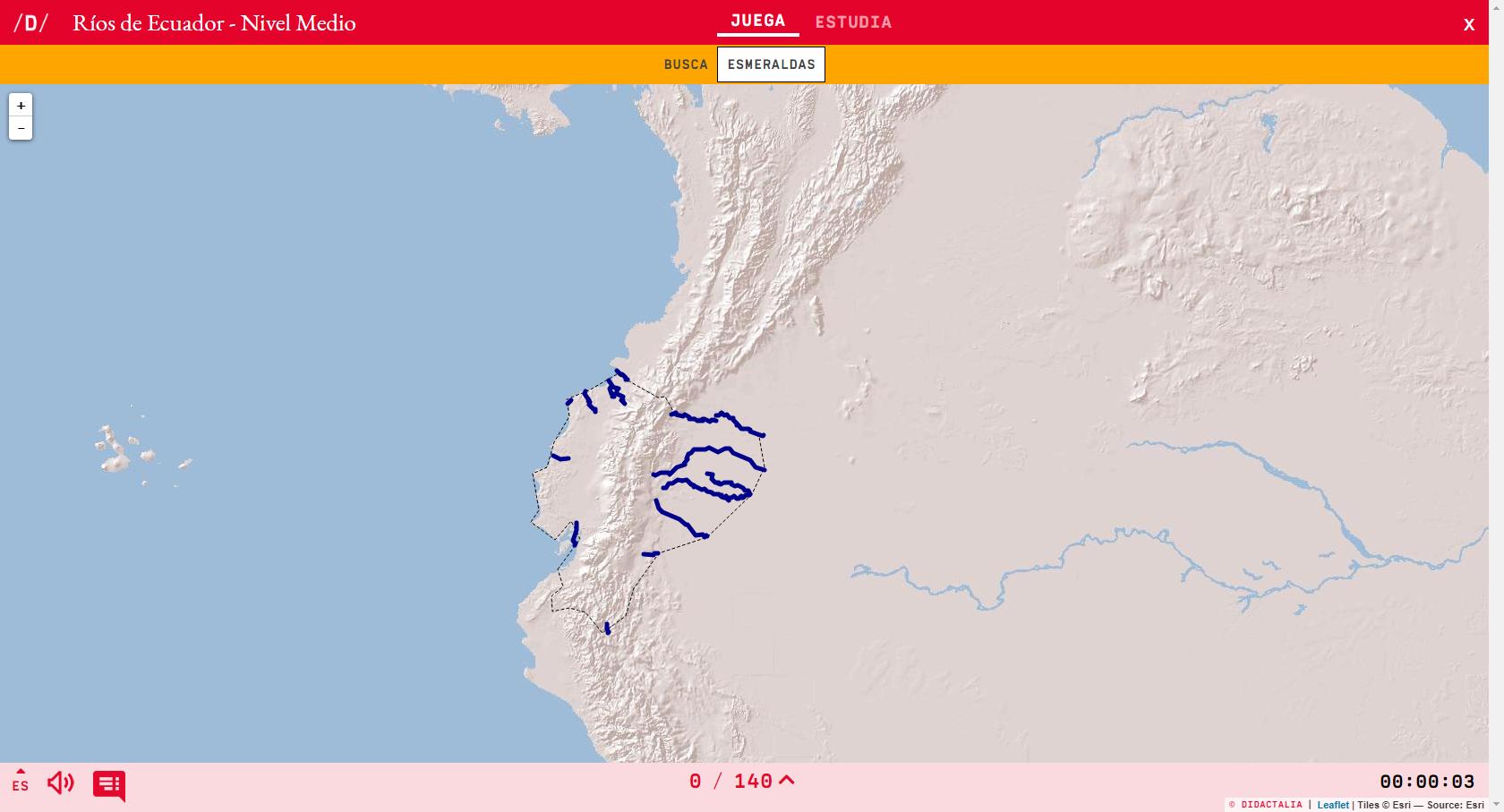 Flüsse von Ecuador - Durchschnittsniveau