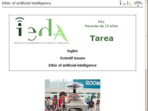 Ethic of artificial intelligence