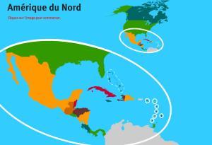 Pays d'Amérique du Nord. Jeux de Géographie