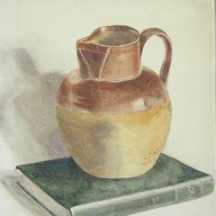 Estudio de jarro y libro