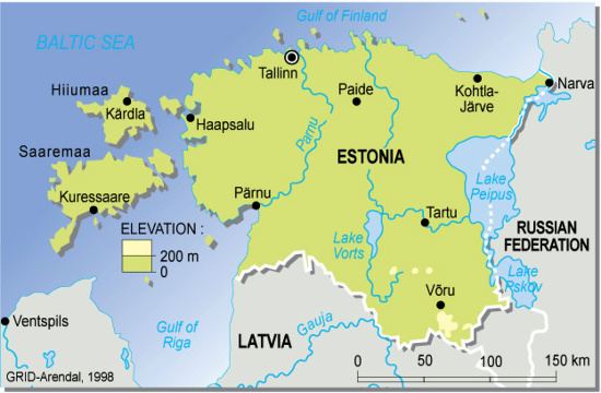 Mar Baltico Mapa Fisico.Mapa Para Imprimir De Estonia Mapa Fisico De Estonia Grid