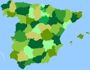 Provincias de España. Toporopa