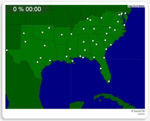 Estados Unidos: Ciudades del Sur. Seterra
