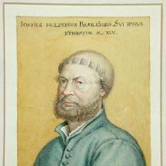 Copia del autorretrato de Hans Holbein