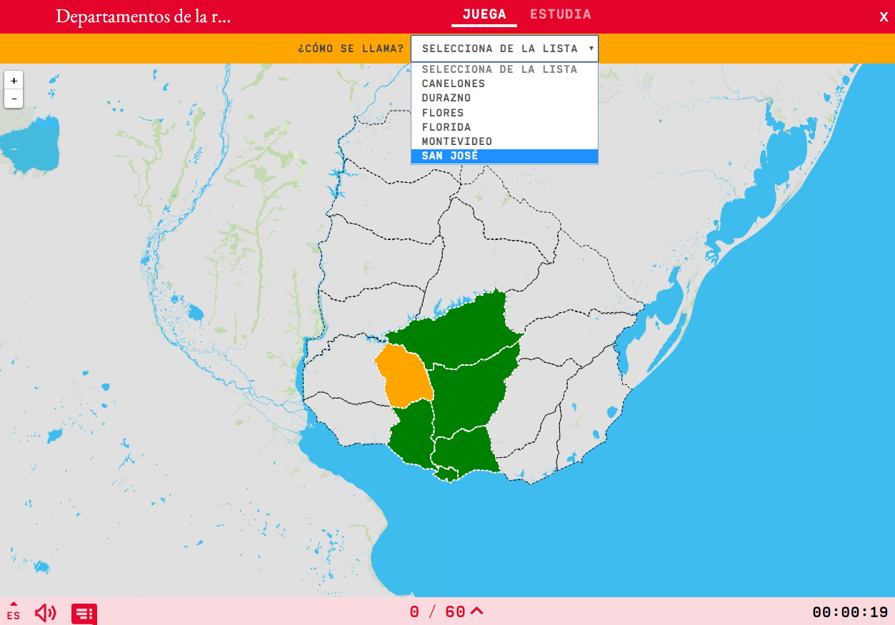 Departaments de la regió centre-sud d'Uruguai