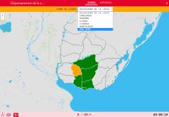 Departamentos da rexión centro-sur de Uruguai