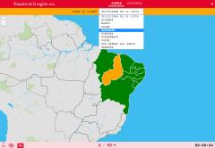 Estados da região nordeste de Brasil