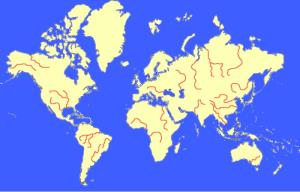 Longest rivers in the world. Sporcle