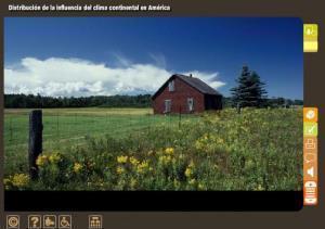 Distribución de la influencia del clima continental en América