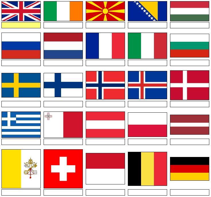 еще флаги всех европейских государств в картинках тут нет