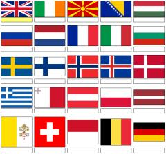 Flags of Europe (JetPunk)