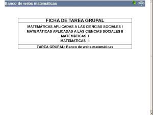 Banco de webs matemáticas