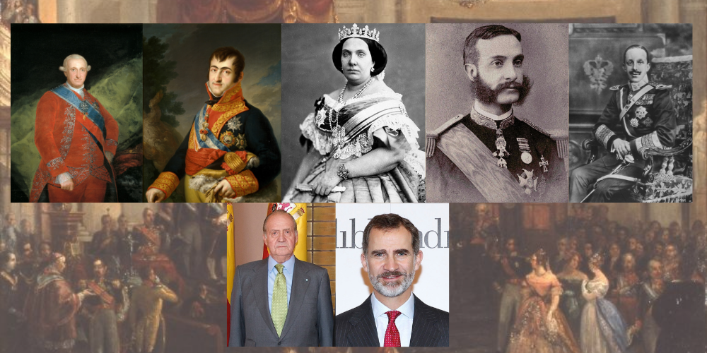 Bourbon dynasty: from Charles IV to today