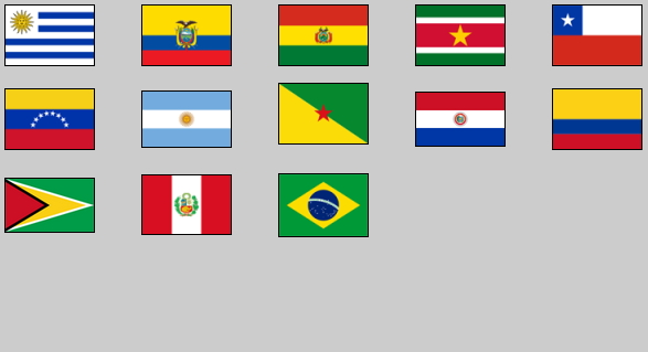 Flags of South America. Lizard Point