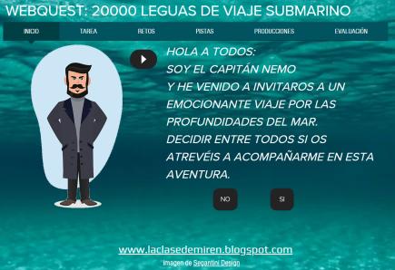 """Webquest """"20000 leguas de viaje submarino"""""""