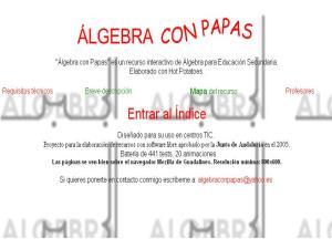 Álgebra con papas