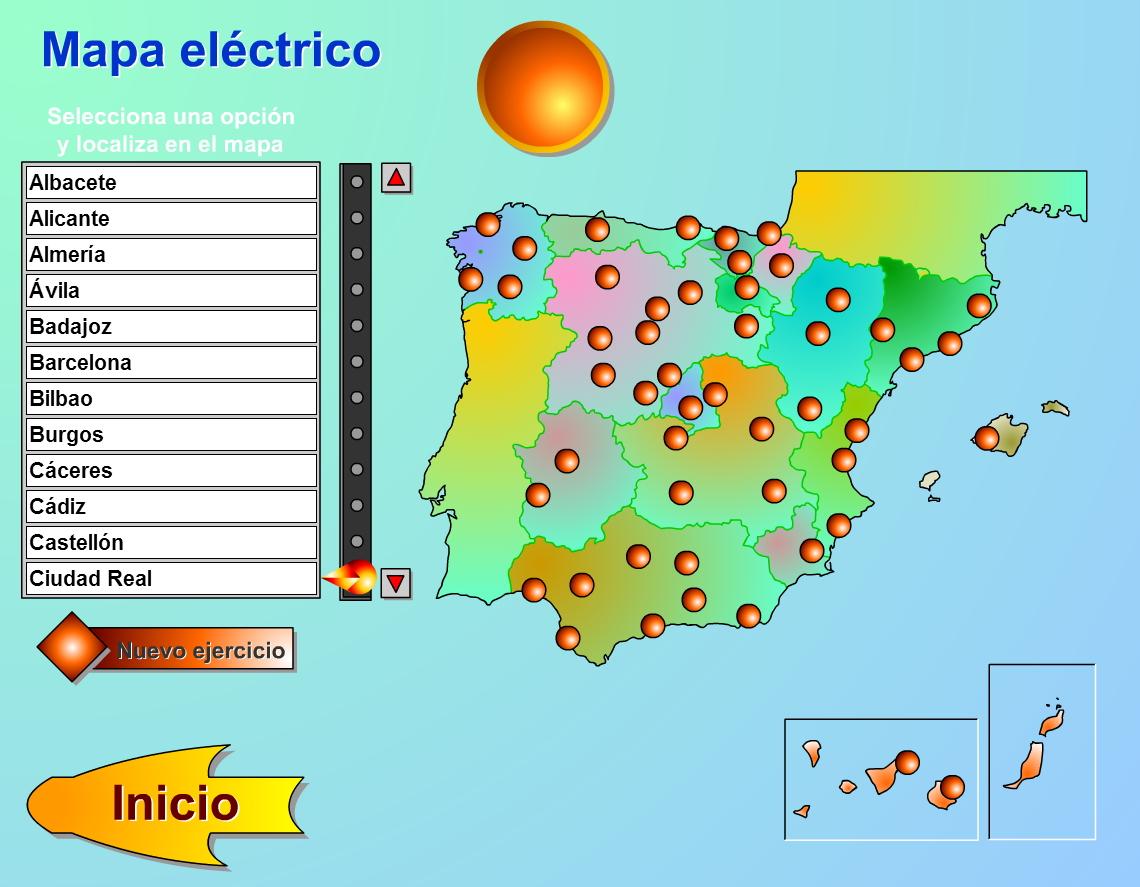 Mapa Flash Provincias Espana.Mapa Interactivo De Espana Capitales De Provincias De Espana Genmagic Mapas Interactivos De Didactalia
