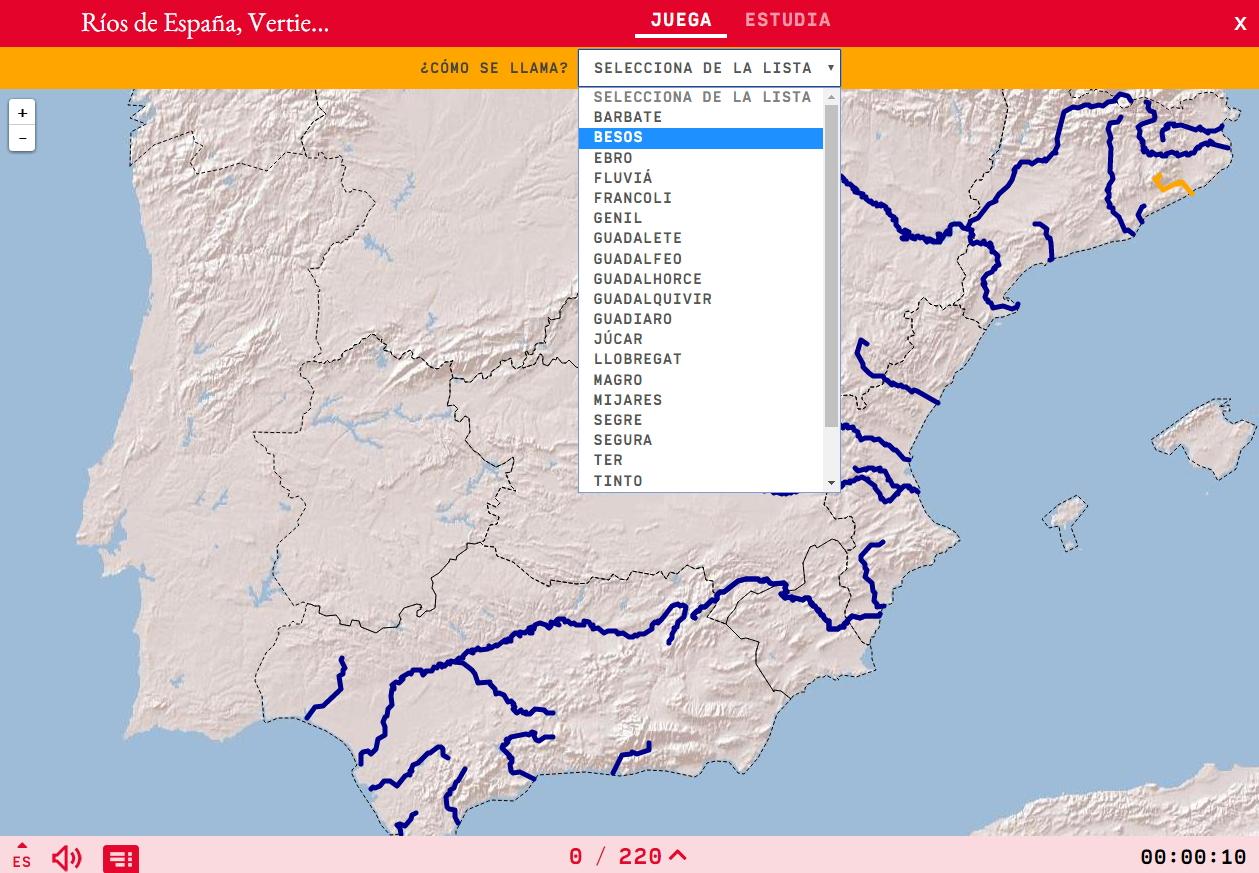 Els rius d'Espanya, zona mediterrani