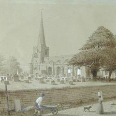 Iglesia de St Oswald en Winwick (Inglaterra)