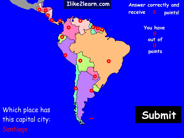 Capitals of the South and Central America countries. Ilike2learn