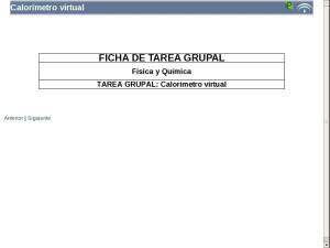 Calorímetro virtual