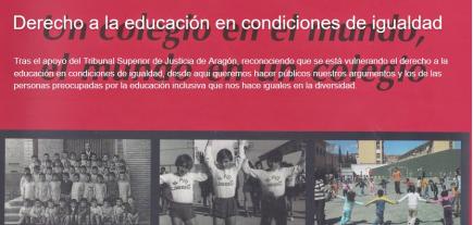 Derecho a la educación en condiciones de igualdad.