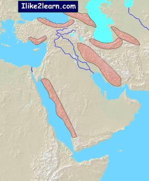 Mountain ranges of Middle East. Ilike2learn
